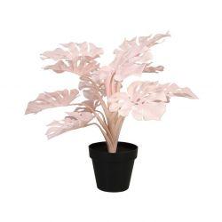 Plastic Plant Monstera | Pink 45 cm