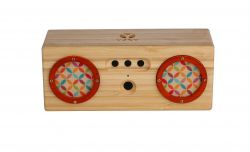 TAMBOR Natural Bamboo Bluetooth Speaker | Vesino