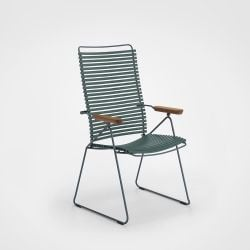 Outdoor Position Chair with Adjustable Backrest Click | Pine Green