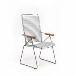 Outdoor Position Chair with Adjustable Backrest Click | Grey