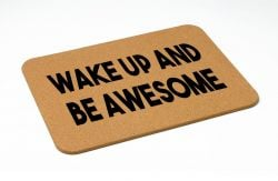 Bath Mat | Wake Up and Be Awesome