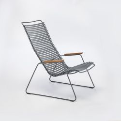 Outdoor Lounge Chair Click | Dark Grey