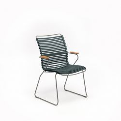 Outdoor Dining Chair with Tall Back Click | Pine Green