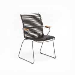 Outdoor Dining Chair with Tall Back Click | Black