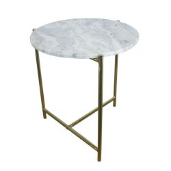 Marble Side Table | Light Grey