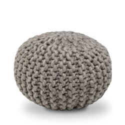 Wool Pouf | Dark Grey