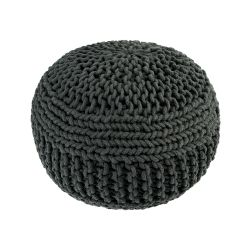 Knitted Pouf | Dark Grey