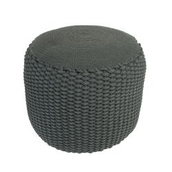 Woven Pouf | Dark Grey