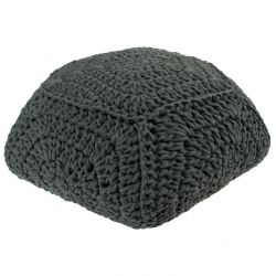 Macrame Pouffe | Dark Grey