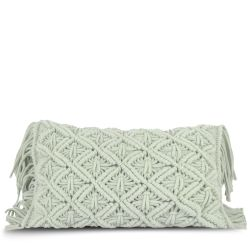 Cushion Cover 50 x 30 cm Macrame | Mint