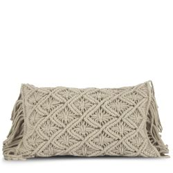 Cushion Cover 50 x 30 cm Macrame | Beige