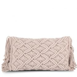Cushion Cover 50 x 30 cm Macrame | Pale Rose