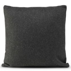 Cushion Cover 50 x 50 cm Square Felt | Black