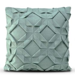 Cushion Cover 50 x 50 cm Origami Felt | Dark Turquoise