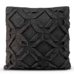 Cushion Cover 50 x 50 cm Origami Felt | Black