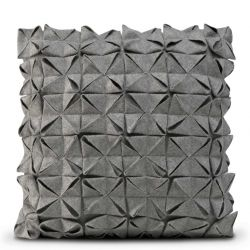 Cushion Cover 50 x 50 cm Geo Felt | Grey