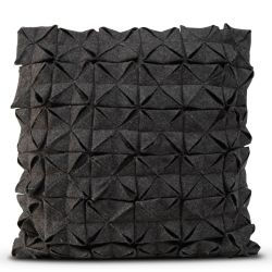 Cushion Cover 50 x 50 cm Geo Felt | Black