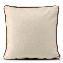 Cushion Cover 50 x 50 cm Piping Felt | Beige