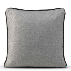 Cushion Cover 50 x 50 cm Piping Felt | Grey