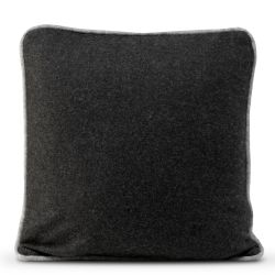 Cushion Cover 50 x 50 cm Piping Felt | Black