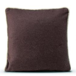 Cushion Cover 50 x 50 cm Piping Felt | Burgundy