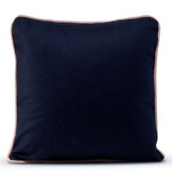 Kussenhoes 50 x 50 cm Piping Felt | Navy
