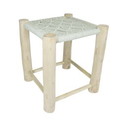 Rhomb Macrame Stool | Mint Green