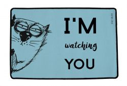 Multifunctional Rug I'm Watching You | Blue