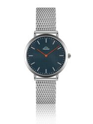 Watch Men Etna Classic | Silver & Ocean Blue