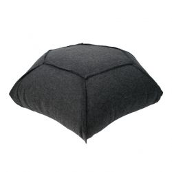 Hexa Felt Pouffe | Black
