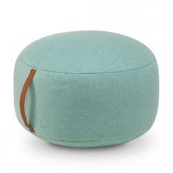 Round Felt Pouf | Turquoise