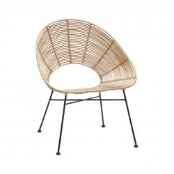 Chair Round Rattan | Nature