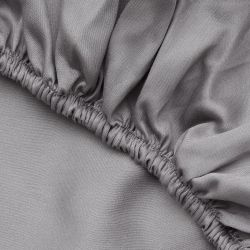 Double Fitted Sheet Satin | Dark Grey