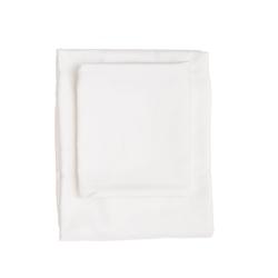 Spannbetttuch Baumwollsatin   Weiß