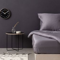 Quilt Cover Set Satin | Dark Grey