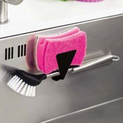 Magnetic Holder for Brush or Sponge | With Countermagnet