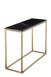 Console Accent Black Crystall | Marbre Noir & Or