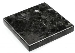 Dienblad Kristal Labradoriet 15 x 15 cm | Zwart