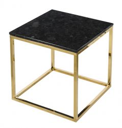 Table d'Appoint Accent 50 x 50 cm | Noir