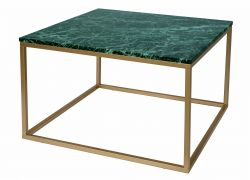 Table d'Appoint Accent 75 cm | Marbre Vert / Or