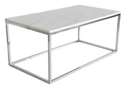 Table d'Appoint Accent | Marbre Blanc / Chromé