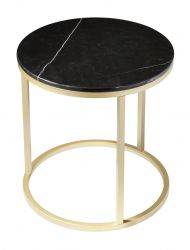 Table d'Appoint Accent Ø 50 cm | Noir