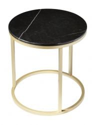 Side Table Accent Ø 50 cm | Black