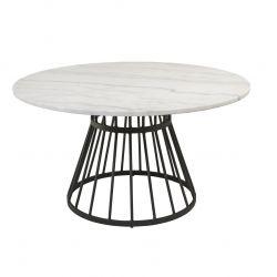 Stone & Iron Coffee Table | White