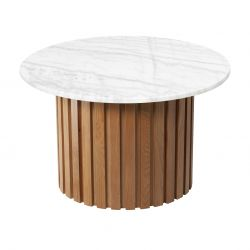 Table d'Appoint Moon Ø 85 cm | Blanc