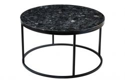 Table d'Appoint Ronde Accent Black Crystall | Noir