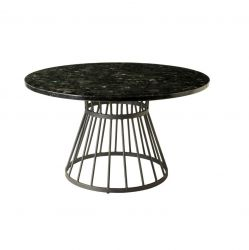 Stone & Iron Coffee Table | Black