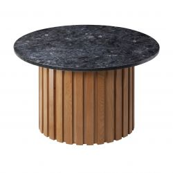 Table d'Appoint Moon Ø 85 cm | Noir