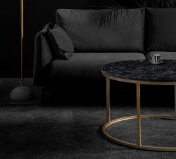 Table d'Appoint Accent Ø 85 cm | Noir