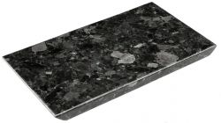 Dienblad Kristal Labradoriet 35 x 20 cm | Zwart
